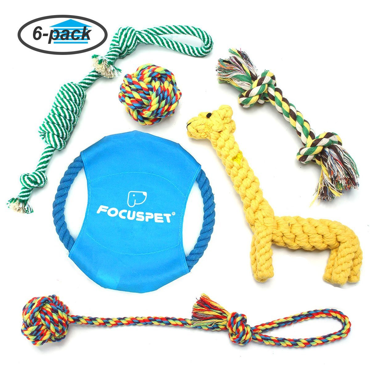 Focuspet Braided Rope Toy Set