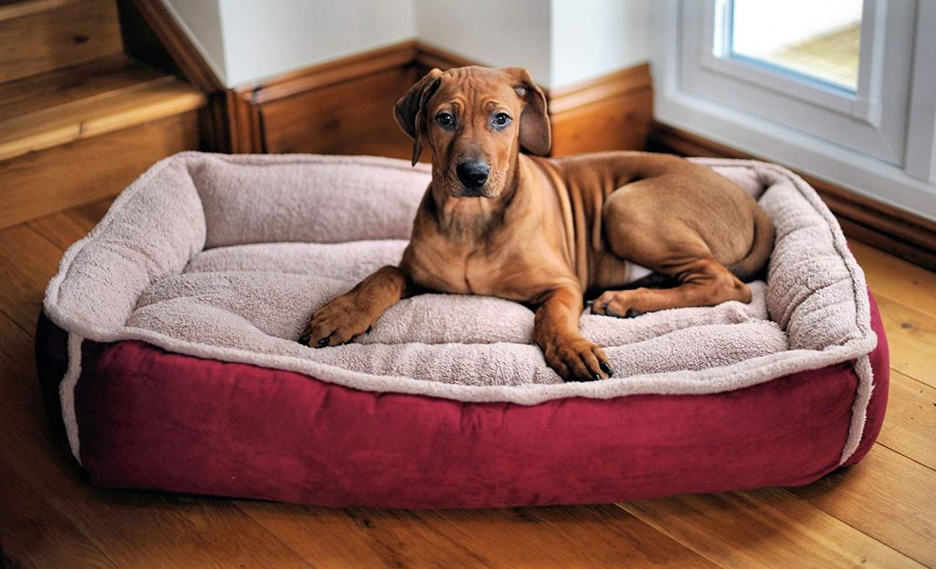 Wolfybeds Padded Luxury Fleece Dog Bed