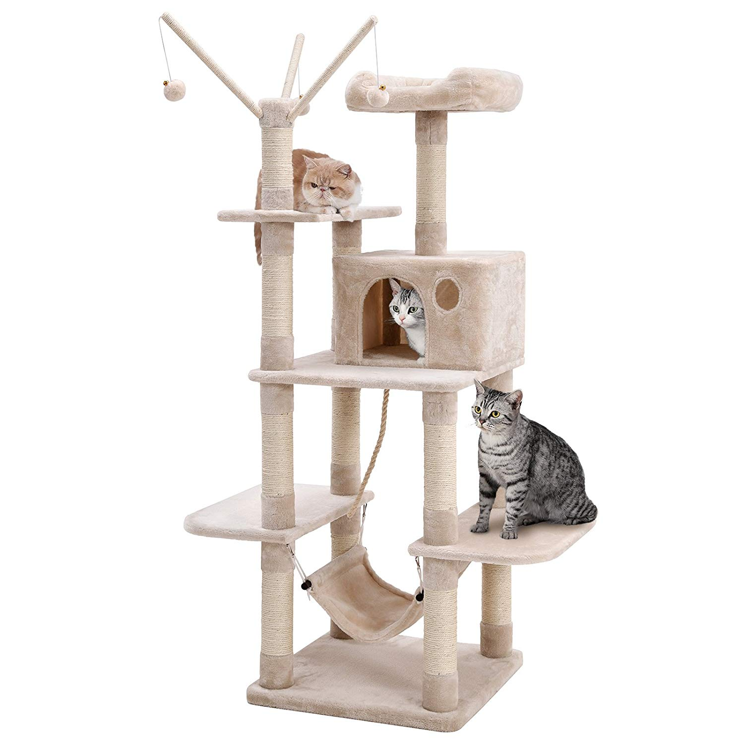 Songmics Cat Tree with Hammock